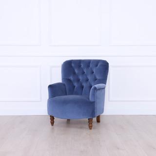 chair blue velvet - QUADRA - sofas and chairs