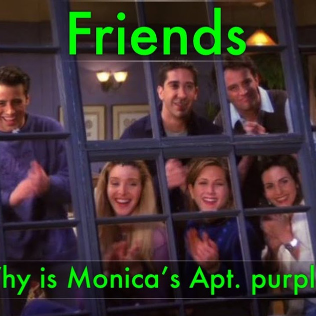 Why is Monica's party purple?