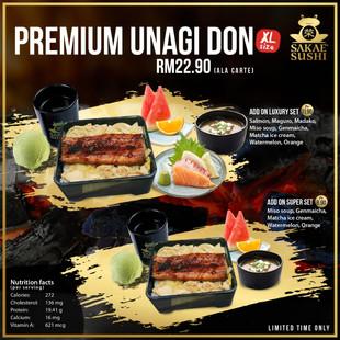 Premium Unagi Don