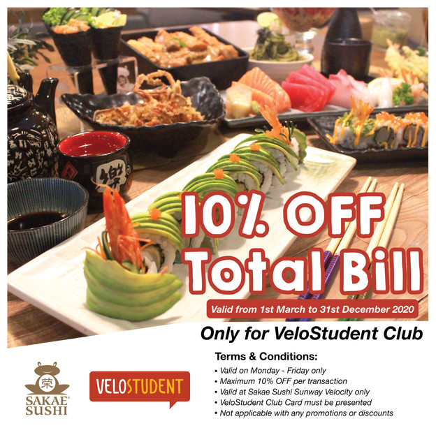 Sakae Sushi x VeloStudent Club