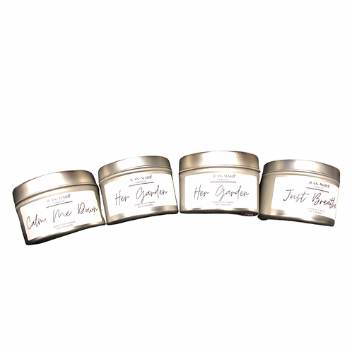 4-oz Metal Tins With Crackling Wood Wick
