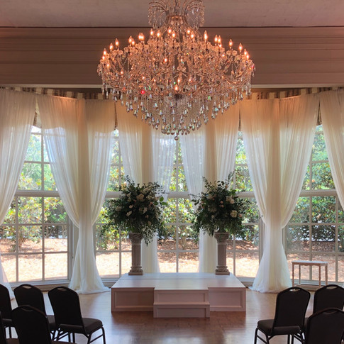Classic Ivory Drape and Candle Light Uplighting at The Vestavia Hill Country Club