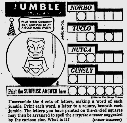 photograph regarding Printable Jumble Puzzles referred to as Clic Jumbles jumble
