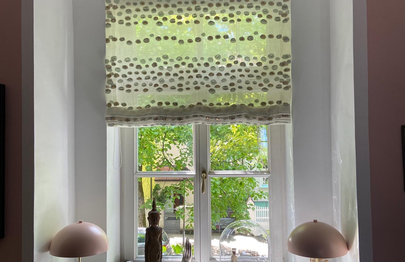 Raffrollo neuer Sicht sowie Sonnenschutz - Stoff SAHCO