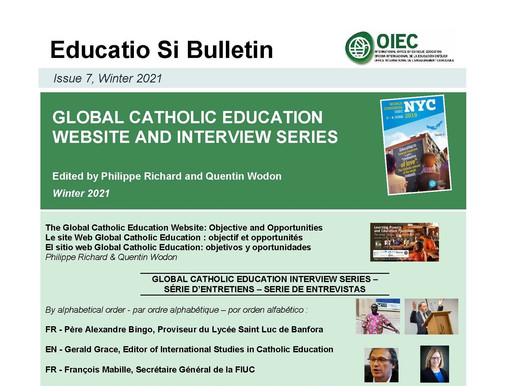 Educatio Si Bulletin: Winter 2021 Issue