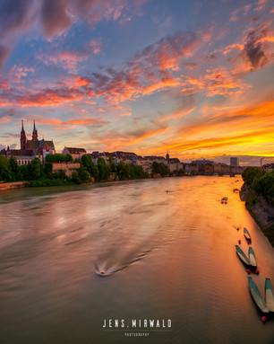 Basel sunset