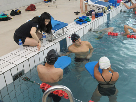 Paraguay Para-Swimmers at NSSU training camp