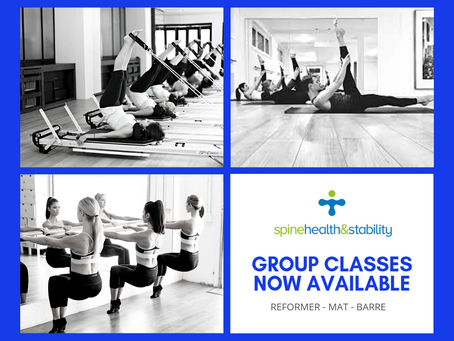 NEW GROUP CLASSES AVAILABLE - Mat Reformer Barre