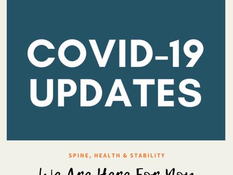 Coronavirus (COVID-19) Update We are here for you