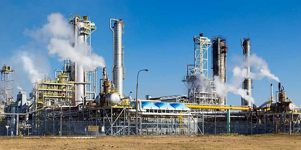 Fumes and noxious gases - a chemical factory is a glaring example of point source pollution.