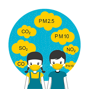 gaseous and particle pollutants