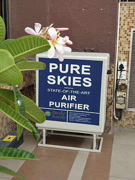 A plug and play solution to air pollution, Pure Skies is hassle-free and incredibly user-friendly.