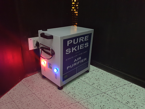 Pure Skies was deployed at a cinema hall for improving its air quality, and it demonstrated excellent results.