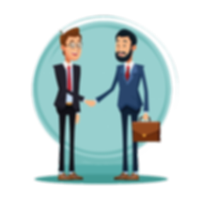 businessmen-talking-about-business-carto