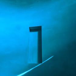 Blue Tadelakt shower in Siesta Key Florida