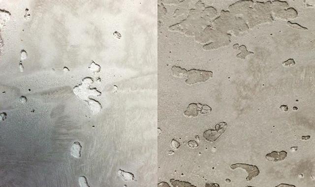 Interior plaster simulating formed concrete