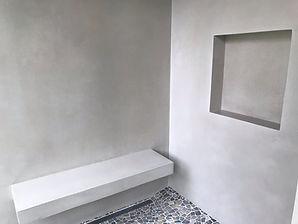 Tadelakt Shower and Bench