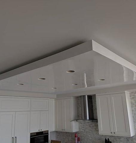 High gloss Venetian plaster ceiling