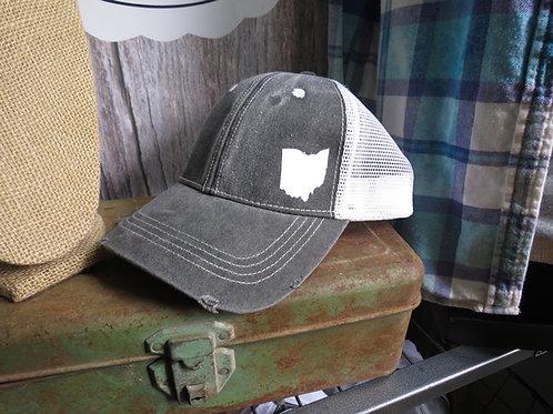 Distressed Mesh Trucker Hat