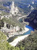 rivière ardèche la peireta
