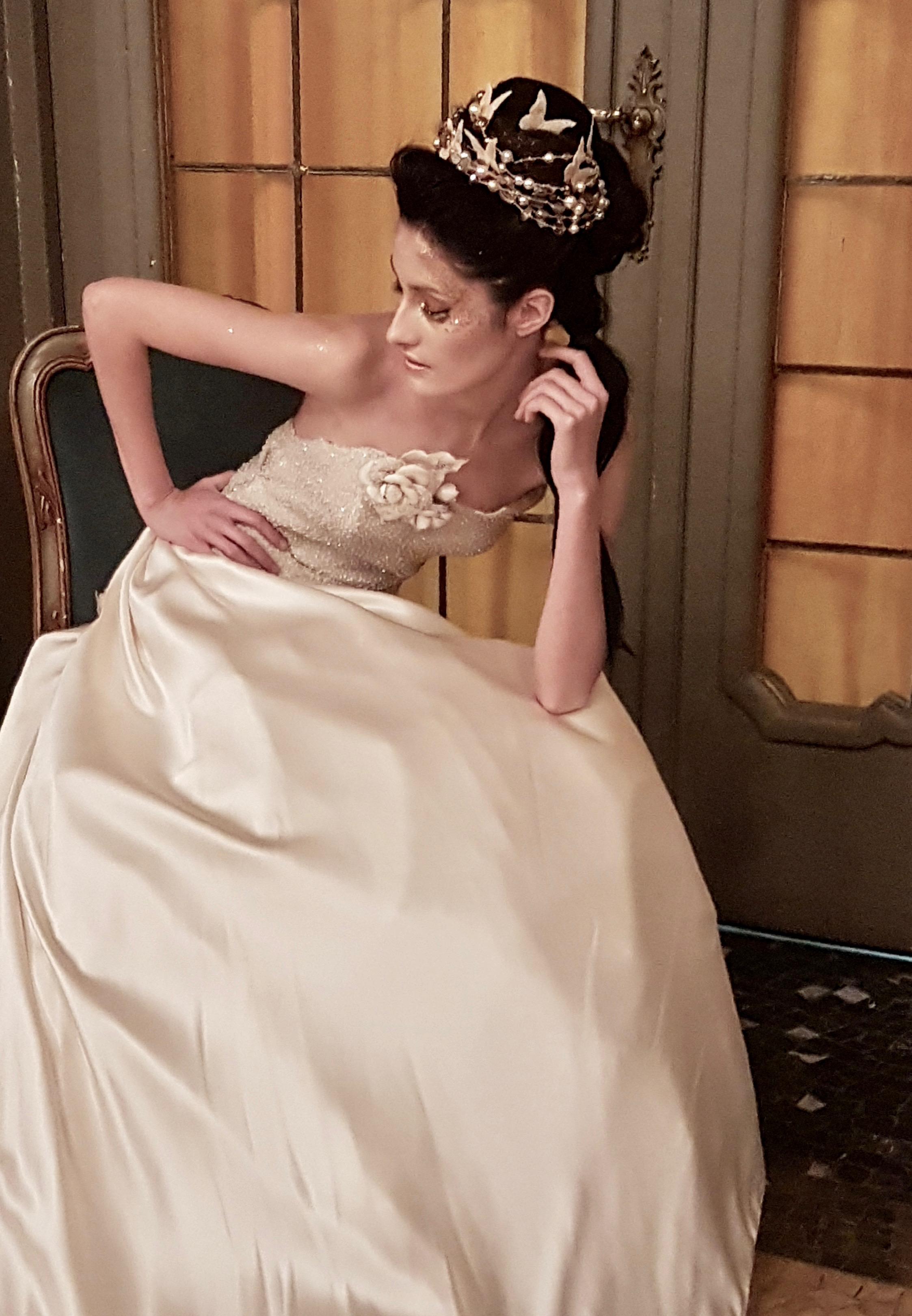 abito da sposa con corsetto da sposa in pizzo