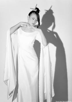 Abito da sposa in stile orientale come il kimono