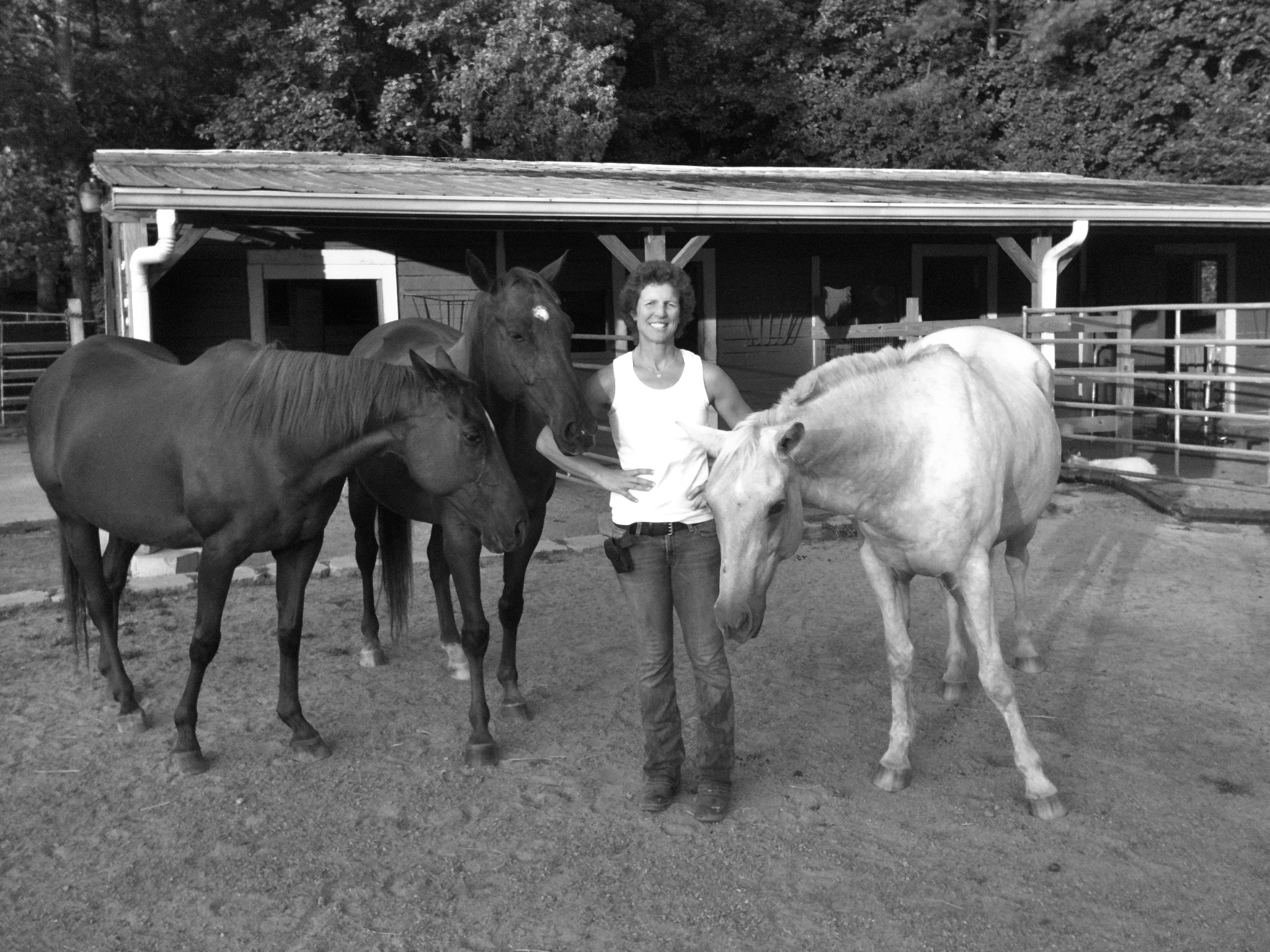 Michelle Akers and Horses