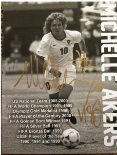 Michelle Akers Autograph Card