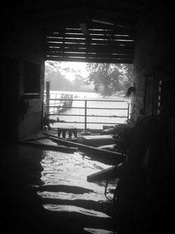 Flood Water in Barn Aisle 2009