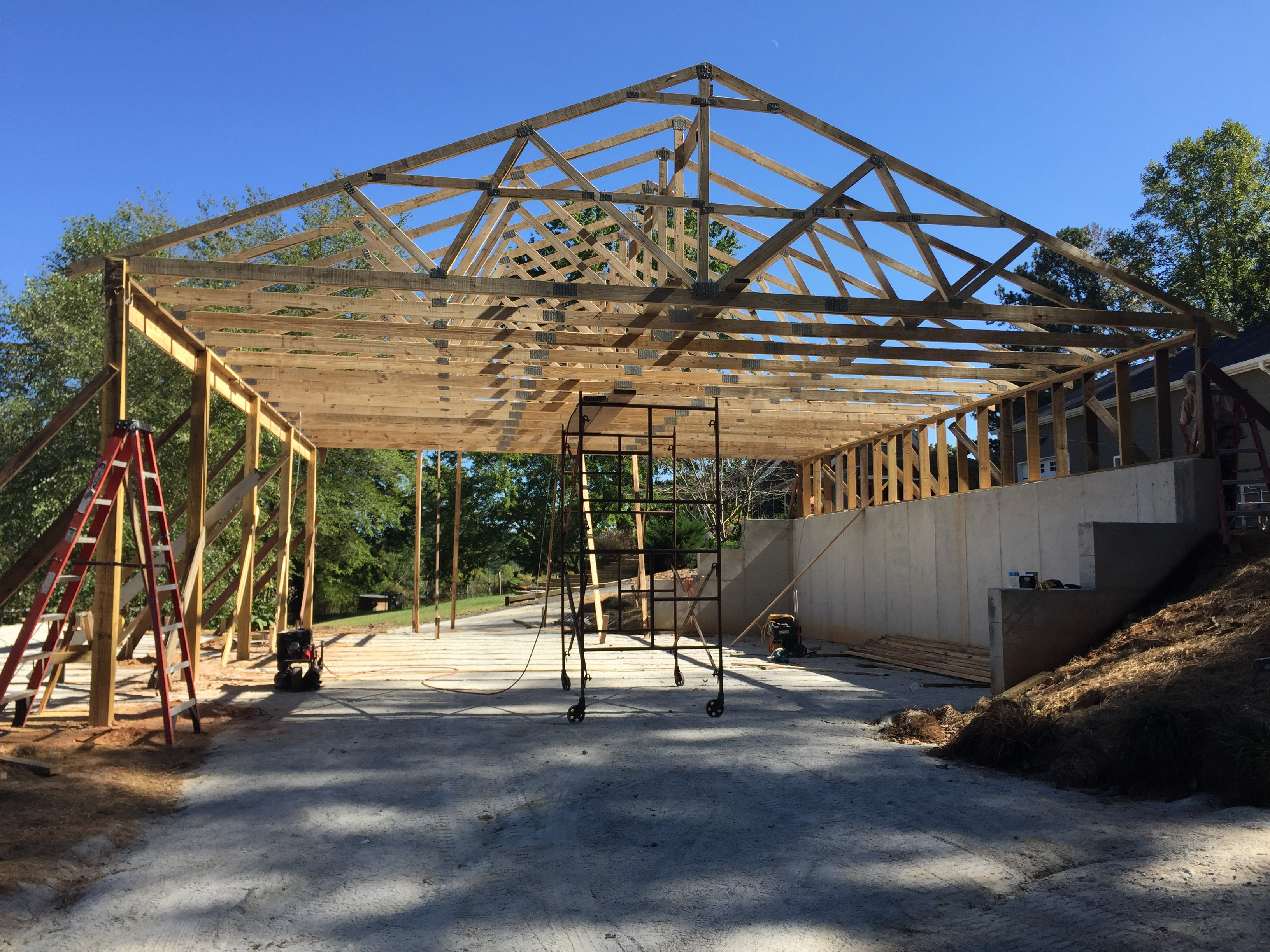 New Barn Trusses/Framing