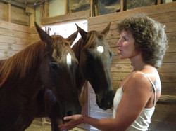 Michelle with Stormy and Thunder