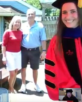Dr. Sanchez surprises Dr. Chaney at her impromptu Zoom Graduation 2020!!!