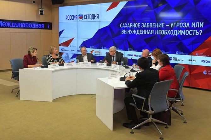 """Круглый стол """"Сахарное забвение – угроза или вынужденная необходимость?"""" прошел в МИА Россия сегодня"""