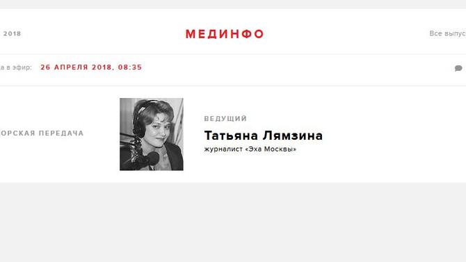 """""""Эхо Москвы"""". Средиземноморская диета"""
