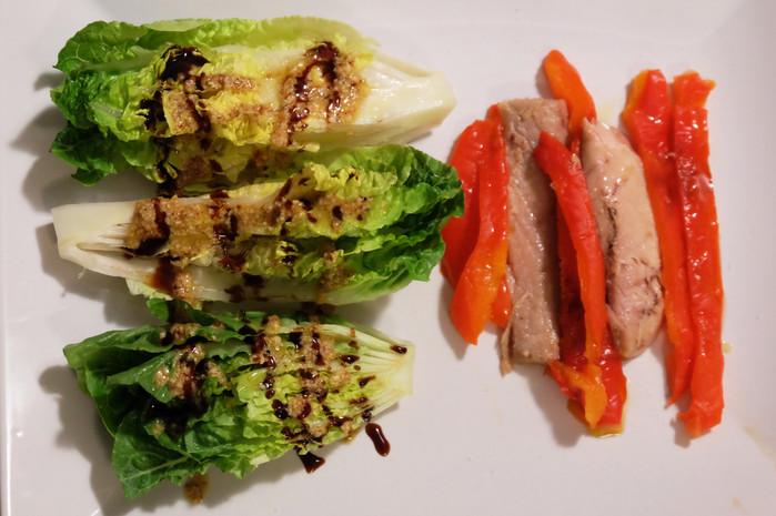 Insalata cordobese con ventresca e peperoni arrostiti