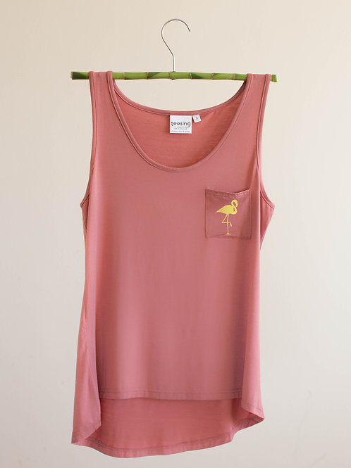 Golden Flamingo tank top