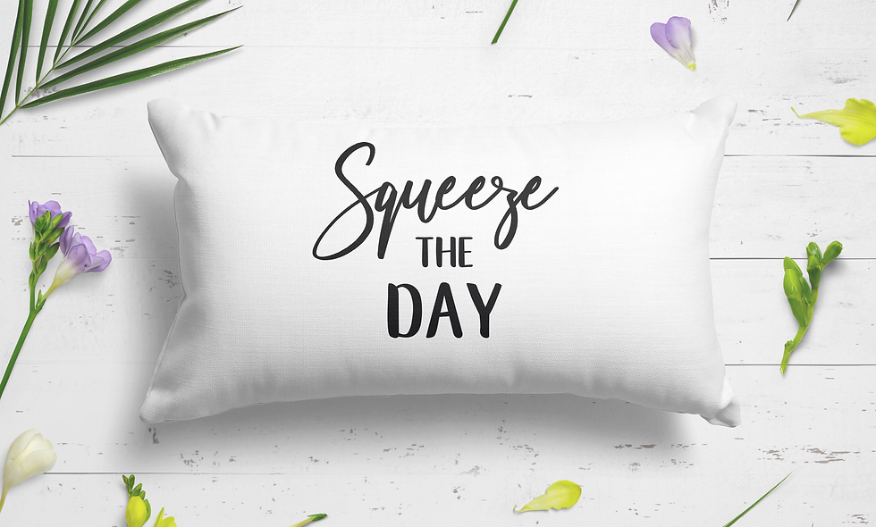 Squeeze the day dream pillowcase