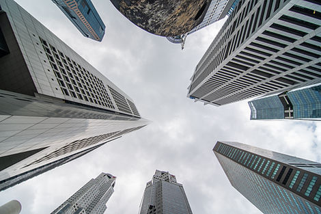 low-angle-view-of-several-business-and-f