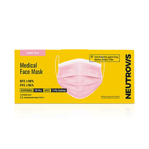 Neutrovis Medical Face Mask   3ply   Colour Series