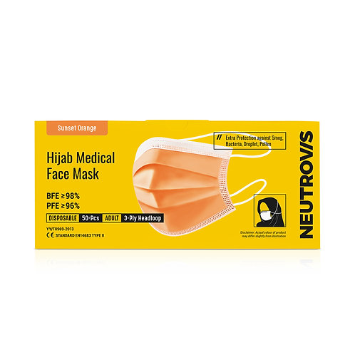 Neutrovis Hijab Medical Face Mask | 3ply | Colour Series