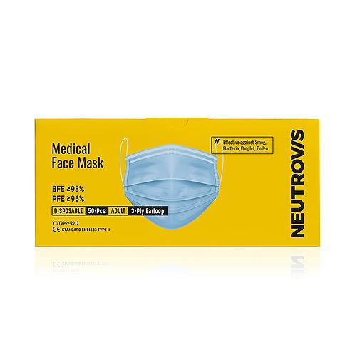 Neutrovis Medical Face Mask | 3ply | Sky Blue