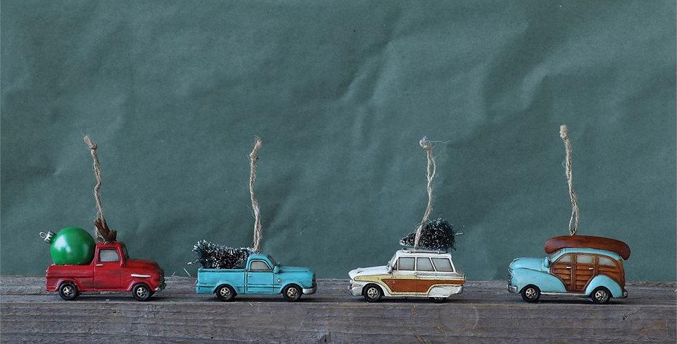 Resin automobile ornament