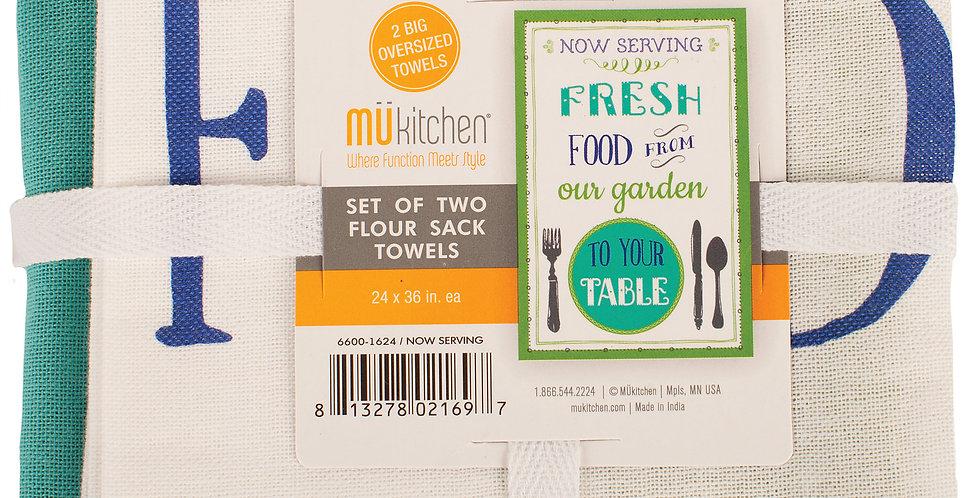 Flour Sack Towels- Now Serving