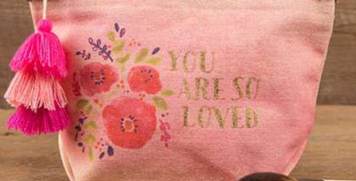 'You are so Loved' zipper pouch