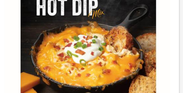 Skillet Loaded Cheddar Hot Dip