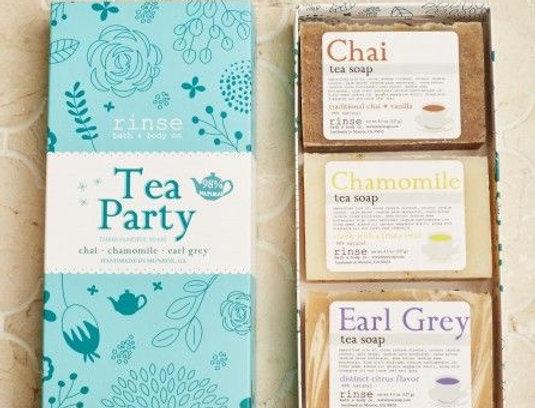 Tea Party Soaps Set of 3