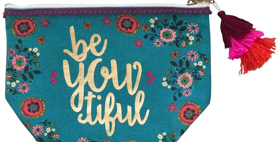 beYoutiful zipper pouch
