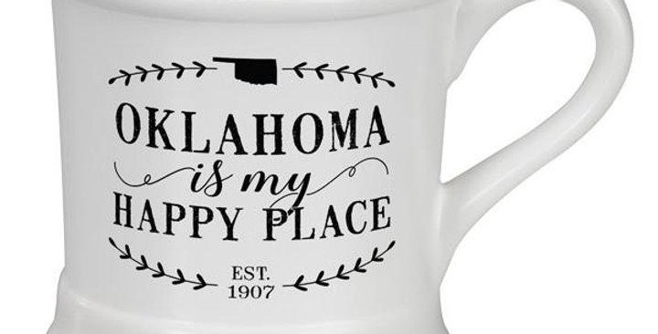 Oklahoma is my happy place mug
