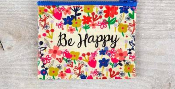 Small zipper pouch-Be Happy