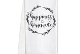 'happiness is homemade' tea towel
